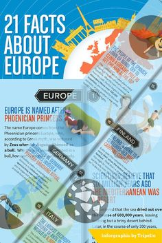 21 Facts You May Not Know About Europe. Check out some fun facts about Europe in the infographics created by Jess from Tripelio.