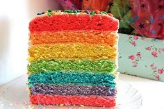 Rainbow Cake (from Kitchen Grrrls)