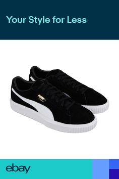 Puma Breaker Mens Black Suede Lace Up Sneakers Shoes f49b903850f