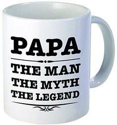 Papa the man the myth the legend  11OZ ceramic coffee mug  Best funny and inspirational gift >>> ** AMAZON BEST BUY **