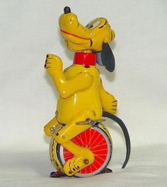 """ Pluto on Unicycle "" by Linemar 1950s"
