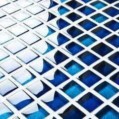 Blue Glass Mosaic Tiles | Mixed Blue Mosaics | Mosaic Village