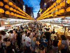 Miaokou Night Market, Taiwan