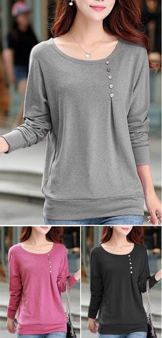 Comfy Long Sleeve Dolman Sleeve T Shirt