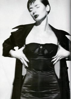 Isabella Rossellini by Gilles Bensimon for ELLE US, 1995