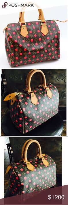 Authentic 🍒Louis Vuitton Cherry Cerises Speedy 25 Get your cherry fix with this limited edition completely sold out and rare born from collaboration with Murakami during Marc Jacobs term at Louis Vuitton - Excellent condition highly sought after - rare edition hard to find! Dust bag, lock and key included. Get it before it's gone! Code SP0035 Louis Vuitton Bags