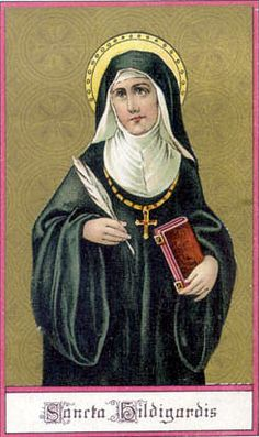 Saint Hildegard of Bingen; Latin: Hildegardis Bingensis (1098 – 17 September 1179), also known as Sibyl of the Rhine, was a German writer, composer, philosopher, Christian mystic, Benedictine abbess, visionary, and polymath. Elected a magistra by her fellow nuns in 1136, she founded the monasteries of Rupertsberg in 1150 and Eibingen in 1165.