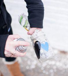 DIY: frascos decorativos para velas com coração vazado | http://nathaliakalil.com.br/diy-frascos-decorativos-para-velas-com-coracao-vazado/