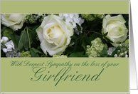 girlfriend White rose Sympathy card Card by Greeting Card Universe. $3.00. 5 x 7 inch premium quality folded paper greeting card. cards & photo cards from Greeting Card Universe will bring a smile to your loved ones' face. Whether for one person or the whole family, a card will make the occasion memorable this year. Look no further than Greeting Card Universe for your card needs. This paper card includes the following themes: photo, photography, and studio porto sabbia. Set yo...
