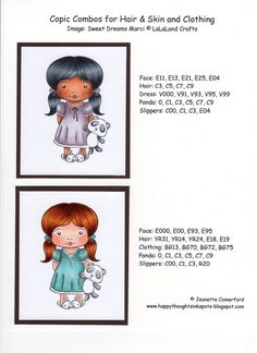 Happy Thoughts & Inkspots: Copic Info ... http://jeanette-happythoughtsinkspots.blogspot.com/p/copic-info.html