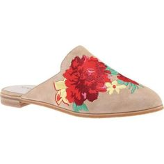 Women's Kenneth Cole New York Roxanne 3 Embroidered Mule Almond Leather