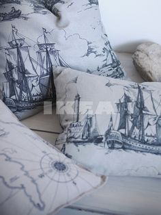 benzy land cushion @ Ikea   have this in sitting room.  there's fabric to match too!
