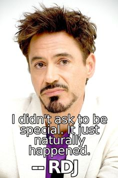 Robert Downey Jr...you are so perfect <3