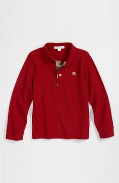 Burberry Jersey Polo (Little Boys & Big Boys) available at Nordstrom