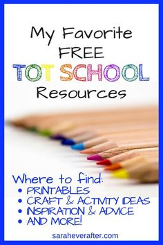 Our Favorite Free Tot School Resources - Sarah Ever After