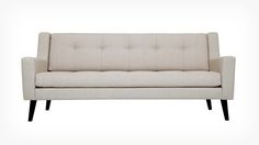 Elise Sofa - Fabric | EQ3 Modern Furniture $1399 - showrooms in NYC: Downtown Furniture, 165 Grand Street, New York, NY  10013 T 212.966.7201; Metro Sleek Design, 686 Grand Street, Brooklyn, NY  11211 T 718.599.1877