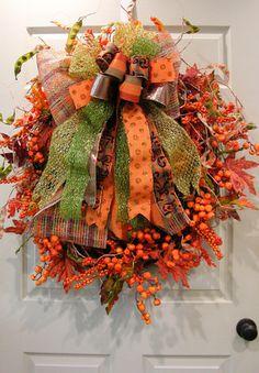 Fall Bowed Wreath – MilandDil Designs