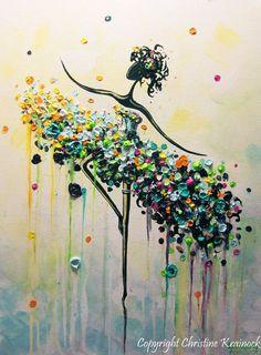 GICLEE PRINT Kunst abstrakte Malerei Tänzerin von ChristineKrainock Mehr