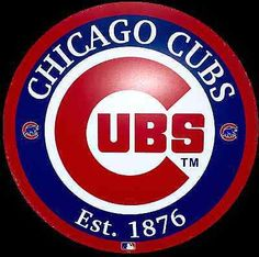 Great looking Cubs sign Perfect Gift for any Cubs Fan Diameter Tin Sign Easy to Install (predrilled holes) Indoor or Outdoor Use Chicago Cubs Baseball, Chicago Blackhawks, Chicago Cubs Logo, Mlb Team Logos, Mlb Teams, Sports Logos, Sports Memes, Chicago Cubs Pictures, Cubs Win