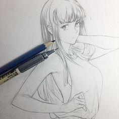 Ver esta foto do artbyshinji Manga Drawing, Manga Art, Drawing Sketches, Cool Drawings, Manga Anime, Anime Art, Character Art, Character Design, Poses References