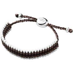 Links of London Brown & Copper Glitter Friendship Bracelet ($220) ❤ liked on Polyvore