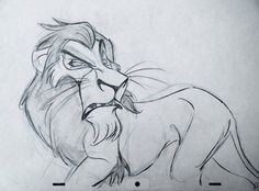 Early concept drawing from The Lion King