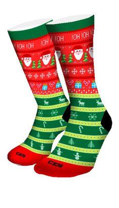 Ugly Christmas Sweater CES Custom Socks - CustomizeEliteSocks.com - 3