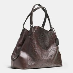Mini Studs Edie Large Shoulder Bag in Leather Cheap Coach Purse Handbags Discount Coach Bags, Coach Handbags Outlet, Cheap Coach Bags, Coach Purses, Purses And Handbags, Leather Handbags, Large Shoulder Bags, Couture, Mary Poppins