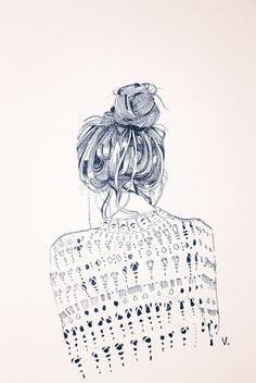 parker+may | a fashion illustration, by Veronica Algaba