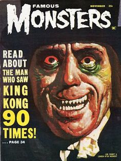 Famous Monsters magazine cover