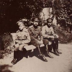 Tsarevich Alexei, Tsar Nicholas II and Grand Duke Dmitrii (One of Grigorii Rasputin's murderers).