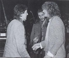 Paul McCartney, Pete Townshend, Robert Plant.