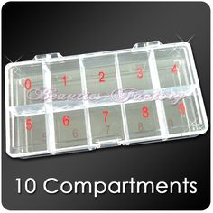 1pc Large Empty Storage Case (10 Compartments)