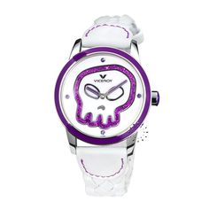 1eb2cb9a9 Skull, White Leather, Digital Watch, Watches, White People, Skulls, Women,  Accessories, Fashion