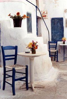 Barbara Sandson: Greek Patio Blues