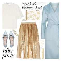 """""""On the Scene: NYFW After Parties"""" by deepwinter ❤ liked on Polyvore featuring Valentino, MaxMara, TIBI, Miu Miu, STELLA McCARTNEY, AERIN, Marc Jacobs, Topshop and afterparty"""