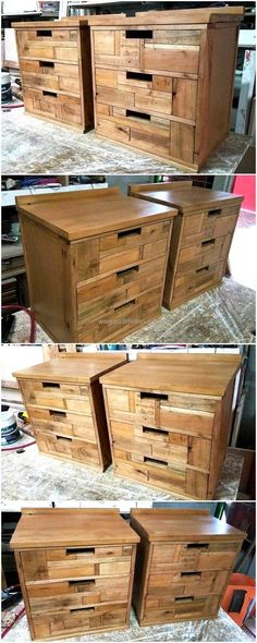 wood pallets night stands
