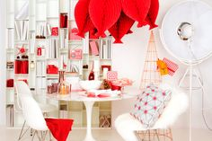 The Conran Shop Christmas 2014 Party Finger Foods, Party Snacks, Honeycomb Decorations, Table Decorations, Christmas 2014, Holiday, Teepee Tent, Christmas Inspiration, Diy Party