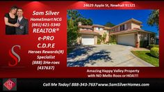 5 bed 3 bath homes for sale in 91321- HomeSmart Santa Clarita CA 91321                      https://gp1pro.com/USA/CA/Los_Angeles/Newhall/Happy_Valley/24629_Apple_Street.html  Amazing Happy Valley Property with NO Mello Roos or HOA!!! This house is absolutely Turnkey with a great floor plan and high ceilings. It features 5 Bedrooms, 3 Baths and 10,494 square feet lot! Kitchen has a large center island and granite counters with stainless steel appliances. Formal living and dining area…