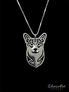Pembroke Welsh Corgi jewelry - sterling silver pendant and necklace