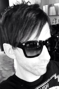 Millennium Goth Chic. Actor Beau Waller. Haircut and styled by CJ Cassaday. All rights belong to the owner of this photograph.