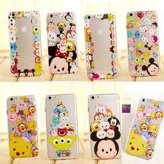 £0.99 GBP - Cute Cartoon Crystal Clear Tpu Soft Case Cover For Iphone 5S 6S 6Splus #ebay #Electronics