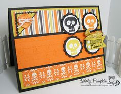 Halloween Card using Stampin' Up! Halloween Hello. Cute stuff by Shirley #stampinup #halloween