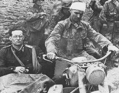 Rudolf von Ribbentrop and Max Wünsche near Norrey-en-Bessin
