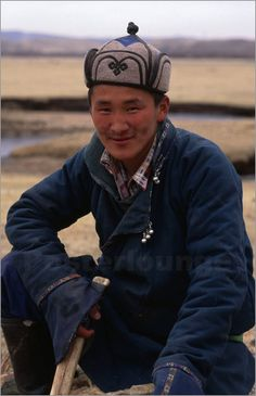 Portrait of a young man on the road to Terelj