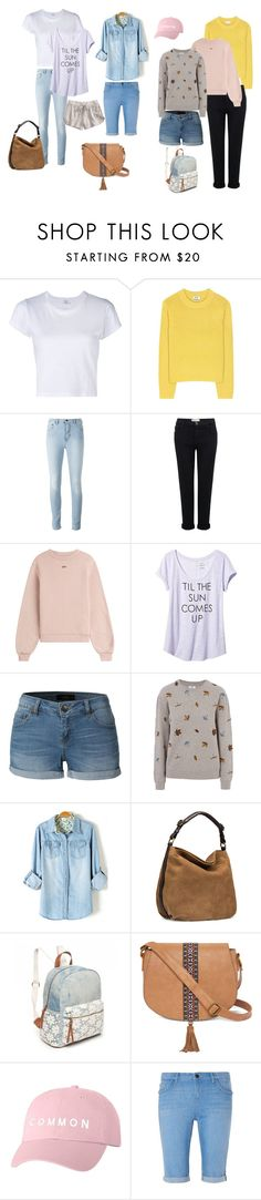 """""""painel esportivo"""" by ale-duarte-1 on Polyvore featuring moda, RE/DONE, Acne Studios, Current/Elliott, Off-White, Banana Republic, LE3NO, Barbour, UGG e Red Camel"""