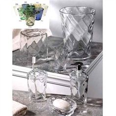 Acrylic Bathroom Shelf With Two Acrylic Tumblers Included Endearing Clear Bathroom Accessories Review