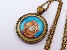 Halskette in bronze mit Taucher Motiv Seefahrt von Schmucktruhe, €18.50
