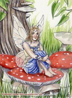 Meredith Dillman Fairies | Fairies World, Fairy & Fantasy Art Gallery - Meredith Dillman/Amanita ...