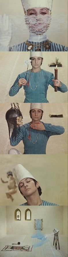 I feel so little, so speechless, inspired and inundated with waves of emotion and awe by this movie. (The Color of Pomegranates, by Sergei Parajanov. 1968)